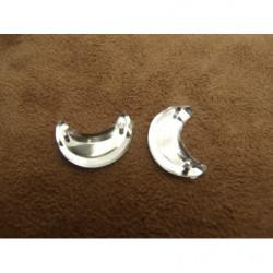ruban perlé de rocaille or, brodée sur voile et tulle noir