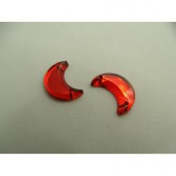 ruban paillette perlé , sur fine chaînette métallique doré