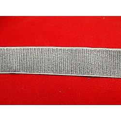 ruban brodé gris lurex or réversible, 5 cm, idéal pour customiser vos vêtements et tout objets de décoration