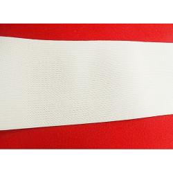 ceinture polyprofene rose sur boucle en metal bronze