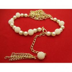 ceinture polyprofene rouge sur boucle en metal argent avec strass rouge