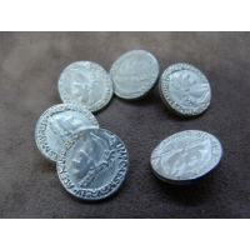 bouton métal argent,18 mm, idéal pour tout projet de couture , et ainsi pour remplacer et embellir  vos  vêtements