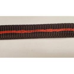 bouton noir - nacré un strass central