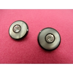Bouton strass noir-15mm