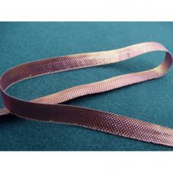 Ruban satin deux faces- bleu vert- 6mm