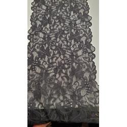ruban indien,9 cm, rouge et or