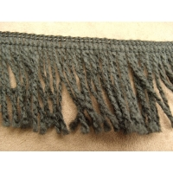 ruban frange polycoton noir, 5 cm, idéal pour customiser un vêtement, robe ,tee shirt ou un objet ,chapeau, sac