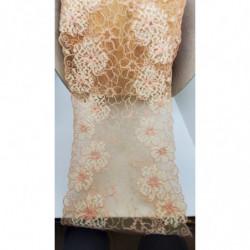 ruban frange orange et bleu épaisse,4 cm,parfait pour customiser un vêtement robe, tee shirt ,ou un objet ,chapeau ,sac