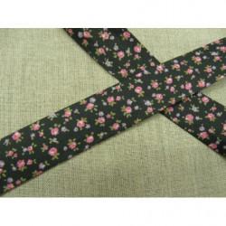 Ruban satin deux faces- bleu nuit- 10mm