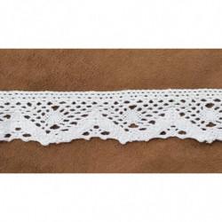 Ruban avec pompon - rose et vert