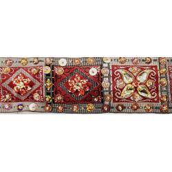 Galon Pailleté doré,3,5 cm idéal pour accessoires mode- vêtements de danse, robes de soirées et déco d'objet ..