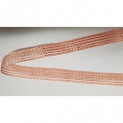 ruban gros grain jaune moutarde avec bande velours centrale, 2 cm, convient pour tous vos loisirs créatifs : couture,