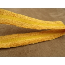ruban avec deux bandes velours jaune moutarde ,2,5 cm ,idéal  pour toutes vos créations de couture, customisations