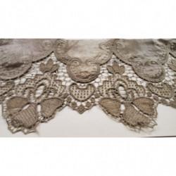 Ruban rouge irisé à  frange - 15mm- rouge