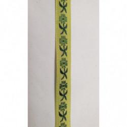 Ruban irisé effet métal -1cm- BORDEAUX
