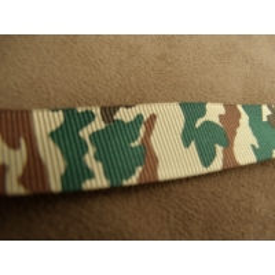 Ruban camouflage gros grain,2 cm, Ces galons inspirés des tenues militaires sont très actuels