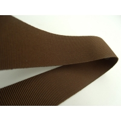 RUBAN GROS GRAIN DÉCORATIFS  marron, 2.5 cm, parfait pour tous vos loisirs créatifs : couture, scrapbooking, bijoux