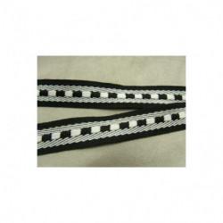 ruban fantaisie avec lurex argent et vert clair 2.7 cm, idéal  pour customiser , vêtements , sac, pochette