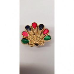 dentelle blanche avec perle en bois centrale, 2.5 cm, convient pour customiser un vêtement, une robe,chemisier, sac, pochette