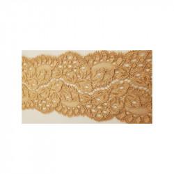 ruban velours perlé noir et sequin carré or sur fond noir, 2.5 cm, sublime pour toutes vos créations de couture,