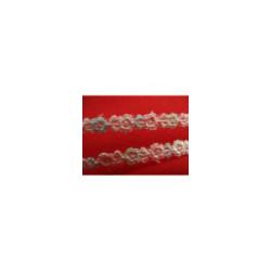 ruban fantaisie bleu 2  cm, convient  pour customiser , vêtements , sac, pochette