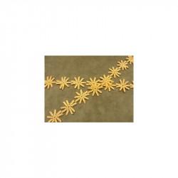 ruban velours  brodé de perles fuschia ,10 cm, sublime  pour toutes vos créations de couture,