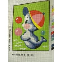 canevas motif ANIMAUX 20x25 cm