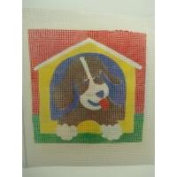 canevas motif ANIMAUX CHIEN 20x20 cm
