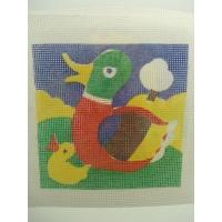 canevas motif CANARD 20x20 cm