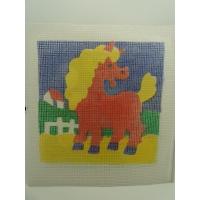 canevas motif ANIMAUX CHEVAL 20x20 cm