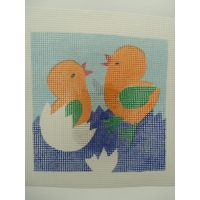 canevas motif OISEAU 20x20 cm