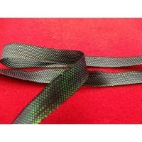 Ruban irisé effet métal vert,1 cm