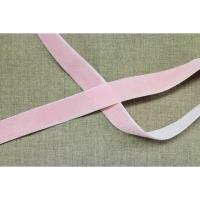 Ruban velours rose pale, 25 mm