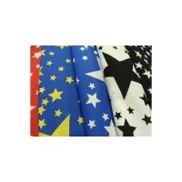 tissu coton imprimé motif étoile,photo de présentation