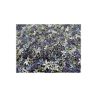 tissu coton imprimé FLEURS bleu & violet,150 cm,100%coton
