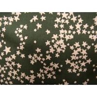 tissu coton imprimé marron étoile saumon,150 cm,100% coton