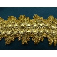 ruban fantaisie or,5 cm, de belle qualité