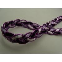 ruban fantaisie parme violet et noir, 1.2 cm
