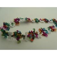 ruban fantaisie fleurs multicolore,2 cm