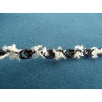 ruban fantaisie motif fleur noir et blanc,1 cm