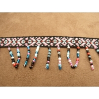 ruban frange perlé multicolore,3 cm