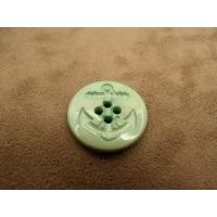 BOUTON ACRYLIQUE ANCRE MARINE vert,23 mm, très tendance