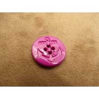 bouton ancre marine violet,23 mm, très tendance