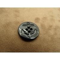 BOUTON ACRYLIQUE ANCRE MARINE noir ,23 mm,très tendance