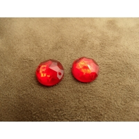 strass rond rouge,13 mm,vendu par 10 pièces