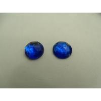 strass rond bleu ,13 mm ,vendu par 10 pièces