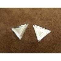 Strass triangle argent , 24 mm, vendu par 10 pièces
