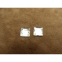 strass carré argent,10 mm, vendu par 10 pièces