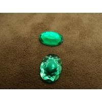 strass ovale vert 18 mm, vendu par 10 pièces