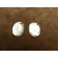 strass ovale argent,18 mm,vendu par 10 pièces